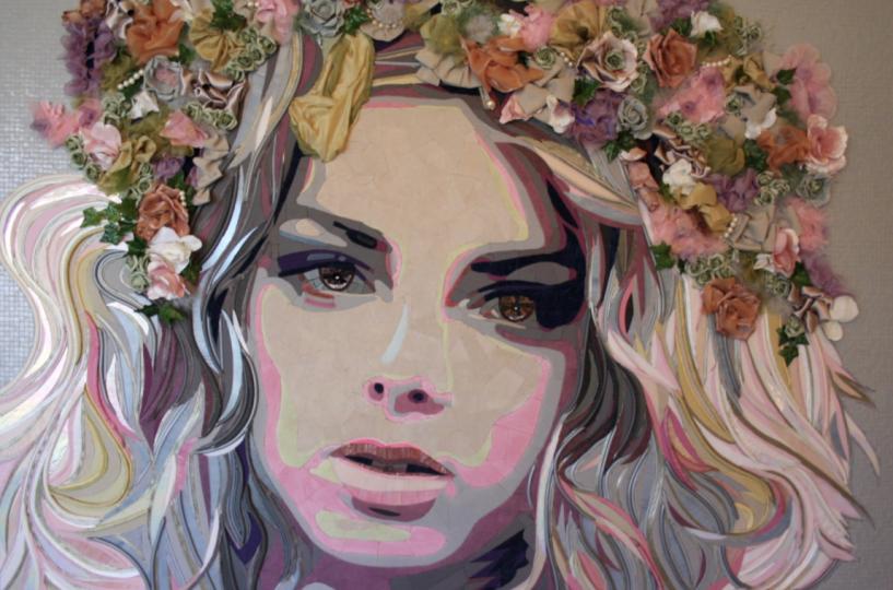 """""""Flower Power Girl"""" (165 CM X 110 CM)"""